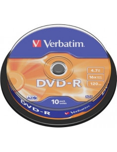 DVD-R VERBATIM 4.7GB, 120min, viteza 16x, 10 buc, Single Layer