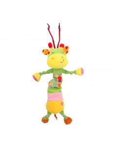 Jucarie muzicala din plus, 36 cm, Green Giraffe