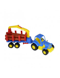 Tractor Hardy Cu Remorca Si Lemne, 48 Cm