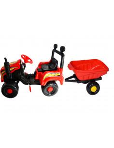Tractor cu pedale si remorca Mega Farm red