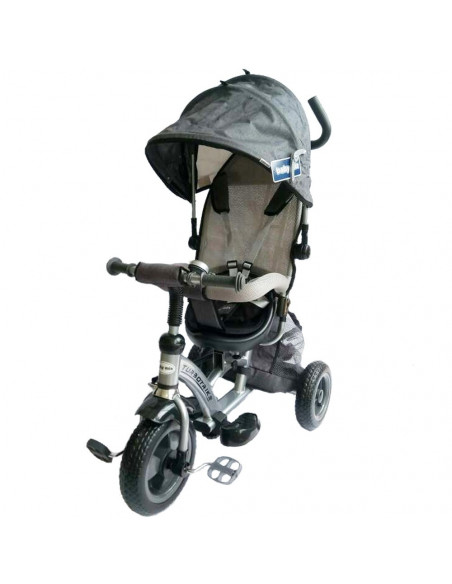 Tricicleta cu sezut reversibil Sunrise Turbo Trike Gri