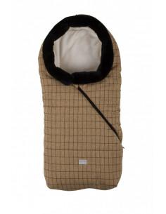 Nuvita Pop sac de iarna 100 cm - Checkered Honey/Beige cu guler