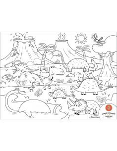 Set Complet pentru Desen cu Plansa Refolosibila din Silicon Dino