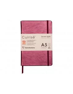 Notebook cu copertă tare din piele Cuirise, A5, Clairefontaine, 72 file, Copper
