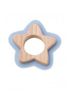 Jucarie naturala pentru dentitie Star Bleu