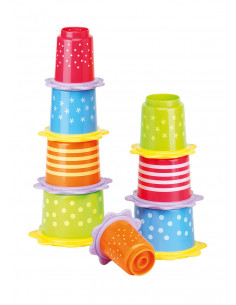 Set Cuburi Stivuibile cu Inel pentru Dentitie