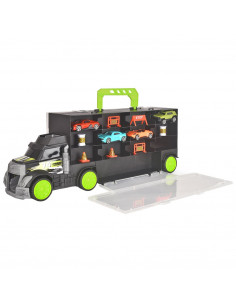 Camion Dickie Toys Carry and Store Transporter cu 4 masinute si