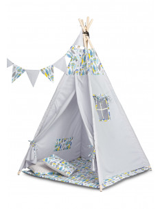 Cort bumbac 100% 164 cm Toyz TIPI Coloured Feathers