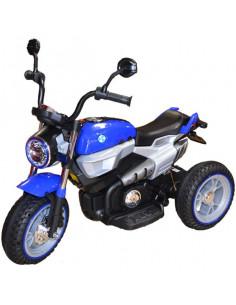 Motocicleta Negru Cu Albastru, Cu Acumulator Si 2 Motoare 12V