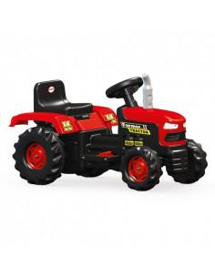 Tractor Dolu Rosu Cu Negru, Cu Acumulator 6V