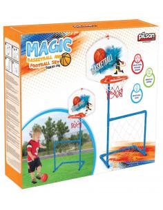 Set poarta de fotbal cu cos de baschet Pilsan MAGIC