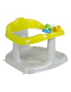 Scaun de baie pentru bebelusi cu jucarii, Panda, Gri cu Verde