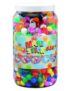 Tepuse ciuperci Hama Maxi Sticks, 650 buc in cutie plastic MARE