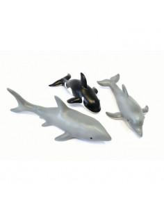 Set de 3 animale marine din cauciuc moale ecologic dimensiune