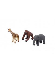 Set de 3 animale din Africa din cauciuc moale ecologic