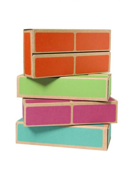 Caramizi din carton CWR, set de 20 bucati, multicolor