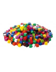 Set de 1000 de cuburi colorate de 1cm cub