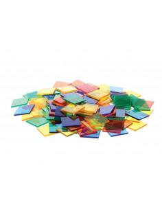 Joc sortare patrate transparente, Edx Education, set de 300 bucati