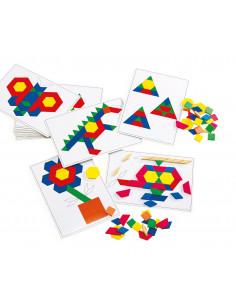 Cartoane de lucru cu modele pentru forme geometrice Mozaic