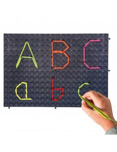 Set de 4 plansete negre pentru pregatirea scrierii cu mana