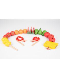 Fructe din lemn pentru insirat