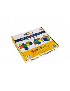 Joc de constructii magnetic Magne Tiles Nexus 100 de piese