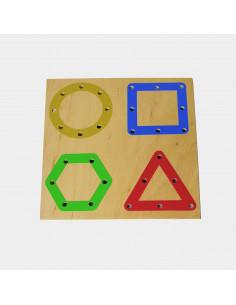 Tabla perforata pentru snuruire - forme geometrice