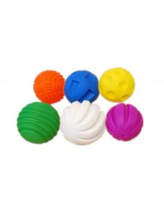 Mingi Tactile, TickiT, set de 6 mingi, multicolor
