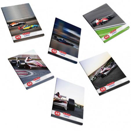 Set caiete Herlitz Cars A5, 10 dictando + 10 matematica, 48 File