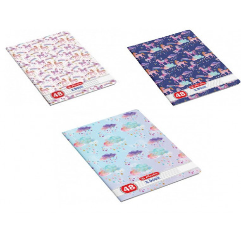 Set 10 caiete Herlitz Unicorn A5, 48 File, 5 Dictando + 5