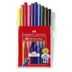 Carioci Faber-Castell Grip, 10 culori