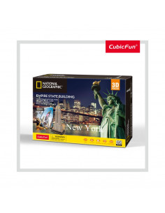 PUZZLE 3D+BROSURA-EMPIRE STATE BUILDING 66 PIESE