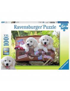 PUZZLE CATEI IN VALIZA, 100 PIESE