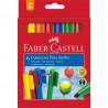 Carioci Connector Jumbo Faber-Castell, 6 culori