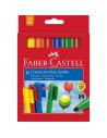 Carioci Connector Jumbo Faber-Castell, 12 culori