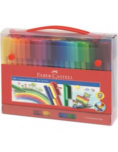 Carioci Connector Faber-Castell, 60 Culori, Cutie Cadou