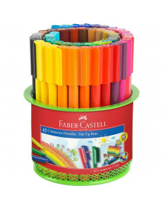 Carioci Connector Faber-Castell, 45 Culori, In Suport Mesh