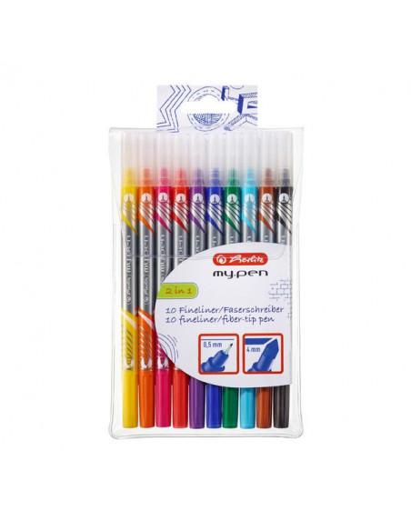 Fineliner + Carioci Herlitz My.Pen, Set 10