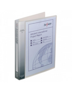 Caiet Mecanic Snopake A4, 4 Inele 25 mm Coperti Flexibile Transparent Executive Snopake