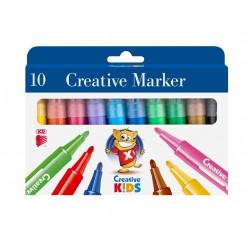 Carioci Ico Creative Kids xxl, 10 culori