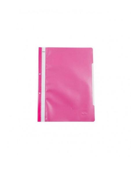 Dosar sina plastic cu perforatii Noki roz