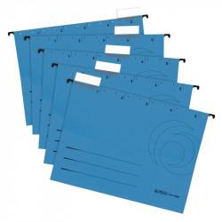 Dosar Suspendat Herlitz A4 Carton Albastru Set 5