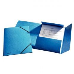Mapa Carton Esselte Cu Elastic Lux, albastru