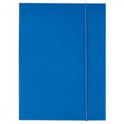 Mapa Carton Cu Elastic A4 D.Rect - Albastru