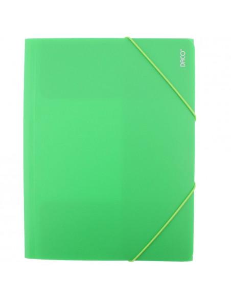 Mapa Plastic Daco Cu Elastic Mp250, verde deschis
