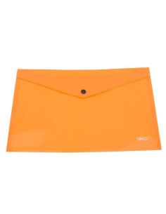 Mapa Plastic Daco Plic Cu Capsa A4  Mp120, portocaliu