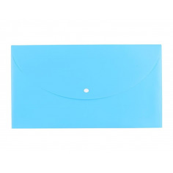 Mapa Plastic Deli Cu Buton A4 Culori Neon, albastru