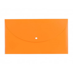 Mapa Plastic Deli Cu Buton A4 Culori Neon, portocaliu