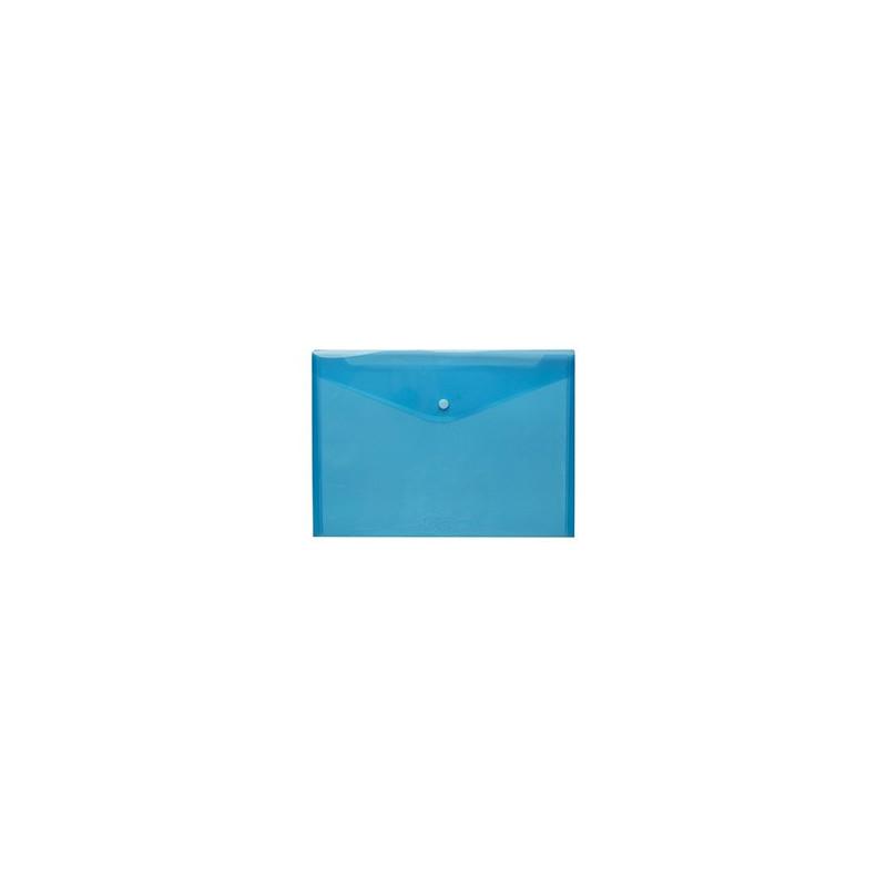 Mapa Plastic Cu Buton A4 - Albastra
