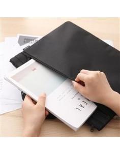 Servieta Material Textil 2 Fermoare Neagra